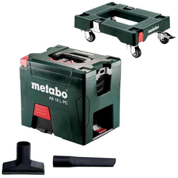 Metabo Akku-Sauger 18 Volt AS 18 L PC mit Filterreinigung ohne Akku ...