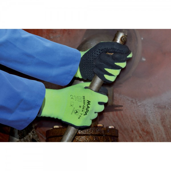 Handschuh Temp-Dex 710, gelb-schwarz