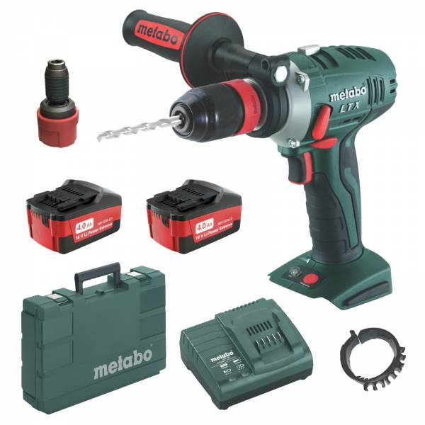metabo akku bohrschrauber bs 18 ltx quick 2x 18volt 4 0ah ladeger t und koffer ebay. Black Bedroom Furniture Sets. Home Design Ideas