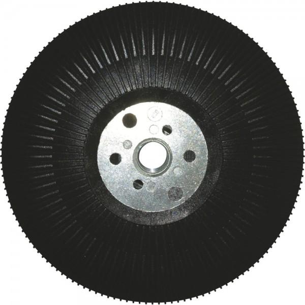 Gummi-Stützteller mit Gewindeflansch M14  Ø 125mm FORUM für Winkelschleifer