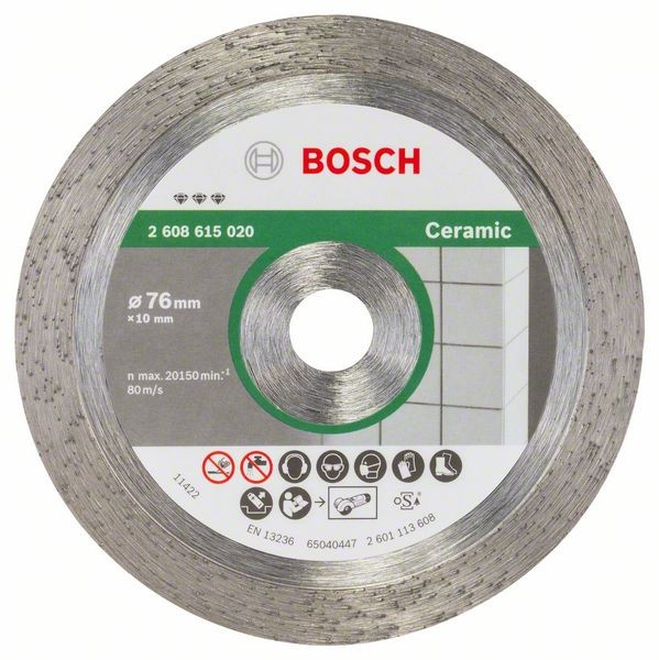 Bosch Diamanttrennscheibe Best for Ceramic 76 mm 1,9 mm 10 mm