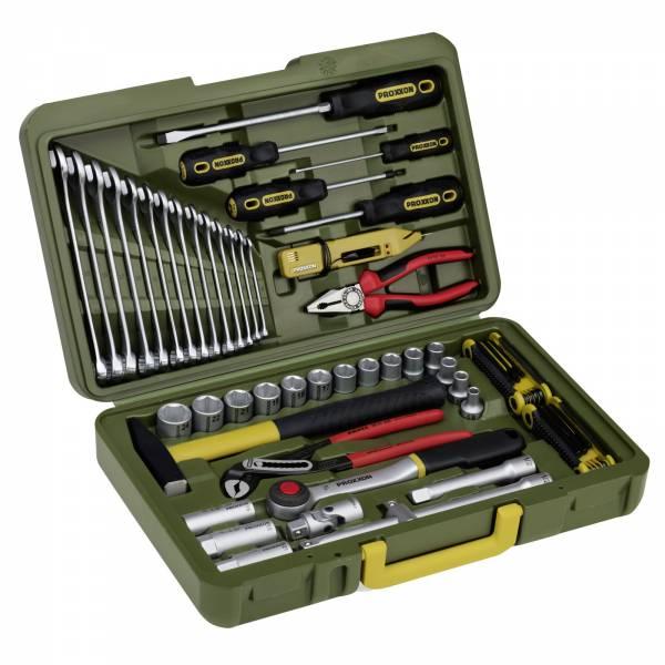 et Boîtier universel 47 pièces Boîtes à outils pour voitures PROXXON 23650 PkW