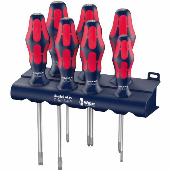Red Bull Racing Rack Wera Schraubendrehersatz Kraftform Plus Lasertip + Rack, 7-teilig