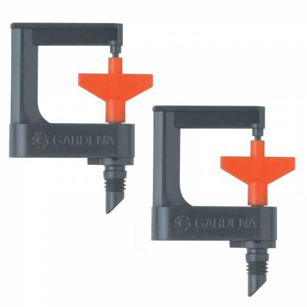 2x Gardena MDS-Rotor-Sprühregner 360 Grad 1369 Micro-Drip-System