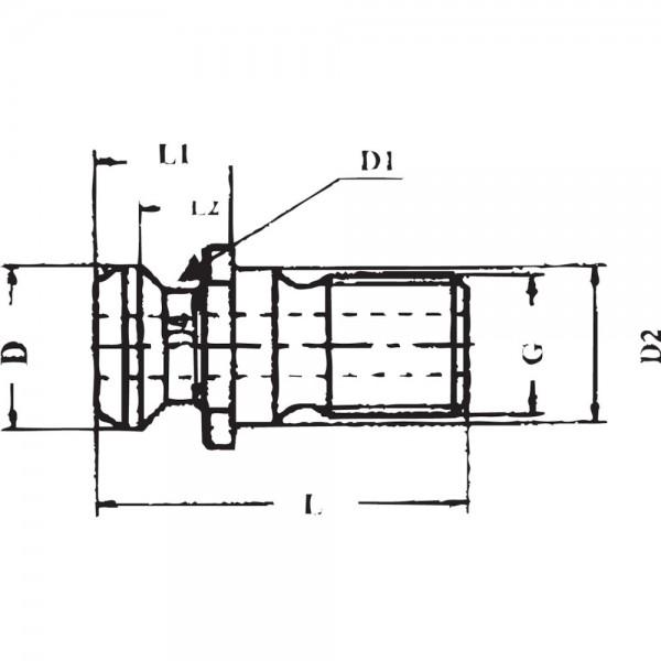 Anzugsbolzen ISO 7388II BSK40-M16 I.K GSW