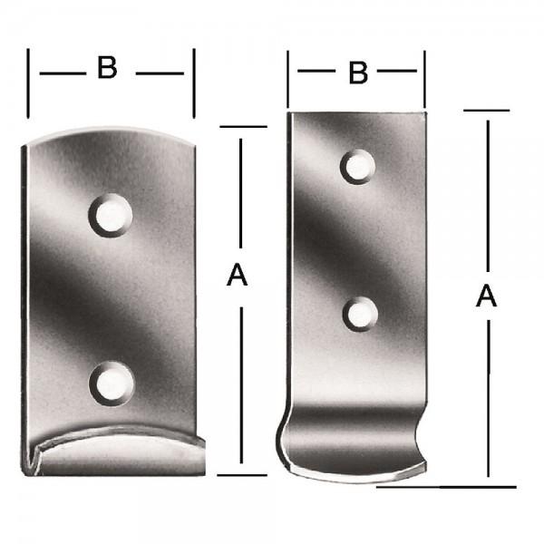 Schliesshaken Form D 46x18mm Nr. 9018Z