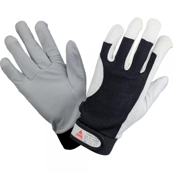 Handschuh POWER GRIP II, Nappaleder, mit Klettverschluss