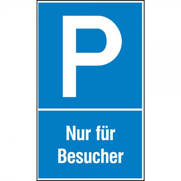 Parkplatzs. Nur f. Bes. Aluminium geprägt
