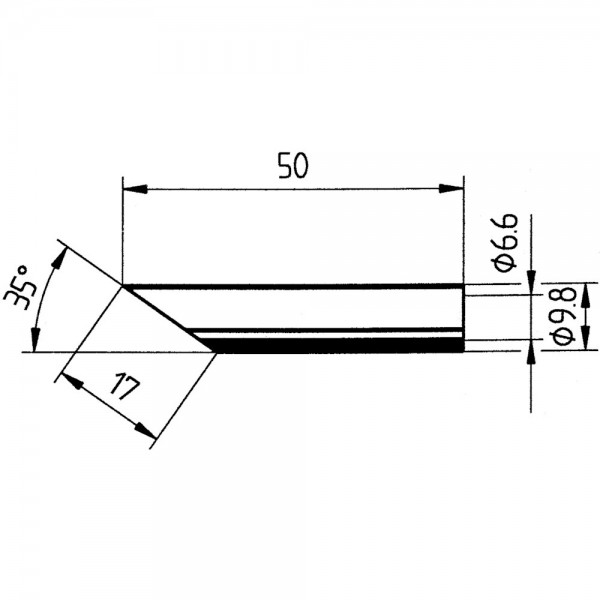Ersatz-Lötspitze 17mm angeschr. SB Ersa