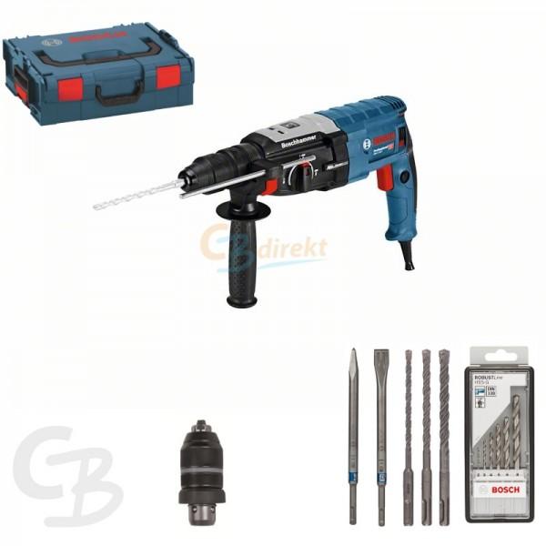 bosch bohrhammer mit sds plus gbh 2 28 f mit zubeh r und l boxx ebay. Black Bedroom Furniture Sets. Home Design Ideas
