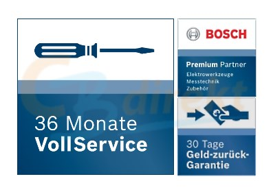 Bosch Premium partner 36 months of full service for electric and measuring tools