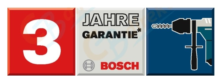 Bosch 3-year warranty for power tools