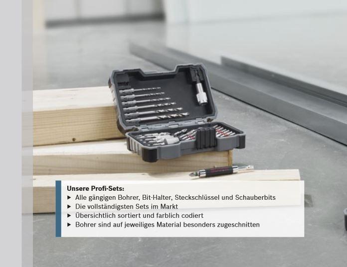 bosch profi bit und holz bohrer set 35 teilig box mit 2 bithalter 2607017327 ebay. Black Bedroom Furniture Sets. Home Design Ideas